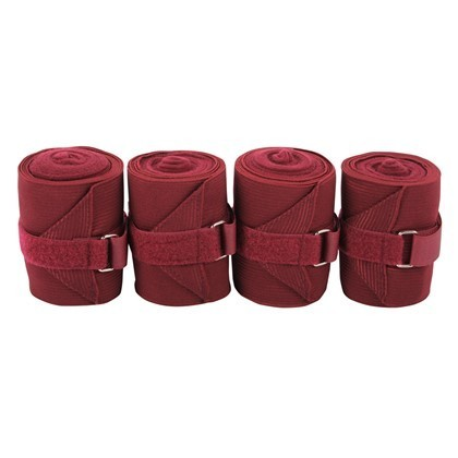 Harrys horse Bandagen Elast./Fleece bordeaux